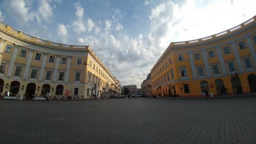 Primorski Bulvarı'ndan Katerynyns'ka Caddesi'ne bakış